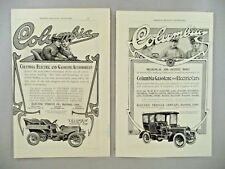 Columbia Electric Car LOT of 2 PRINT AD - 1904 ~~ auto, automobile