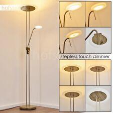Lampadaire à vasque LED Lampe de séjour Variateur Lampe de lecture Métal/Verre