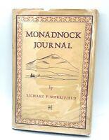 MONADNOCK JOURNAL by  Richard Merrifield (1975) Taftsville VT Countryman Press