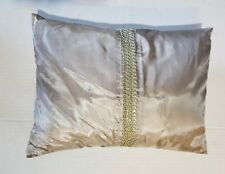 """Nwt Calvin Klein Champagne Colored Studded Ribbon Decorative Pillow 12""""x16"""""""