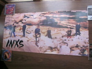 INXS 1985 Listen Like Thieves Promo Poster Hutchence Farriss Beers Pengilly
