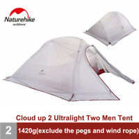 Naturehike NH15T002-T Silicone Double Layer  Camping Tent Camping Gear 2 Persons