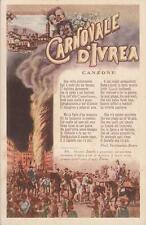 C3444) CARNEVALE, CANZONE DEL CARNOVALE DI IVREA.