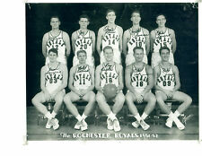 1951 1952 ROCHESTER ROYALS  8X10 TEAM PHOTO NBA BASKETBALL DAVIES WANZER RISEN
