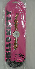HELLO KITTY by SANRIO WOMANS GOLD TONE LEOPARD PRINT WATCH NWT $44.99 SALE