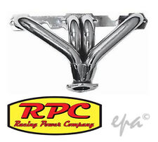 RPC CERAMIC HEAVY DUTY STEEL BLOCK HUGGERS HEADERS CHEV SB 283 307 327 350 R9964