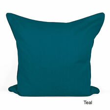 "100% Cotton Plain Dyed Cushion Cover With Nice Piped Edging Size 20"" x 20"""
