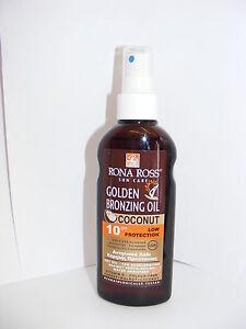 Rona Ross Coconut Bronzing Oil  SPF 10 (160ml)  EXPRESS P&P