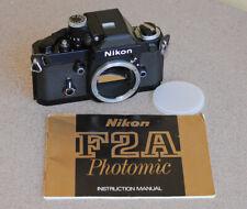Nikon F2A with DP-11 AI Finder SLR camera body Black EXC Black F2-A
