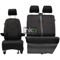 VW Transporter T5 T5.1 GP INKA Front Fully Tailored Waterproof Seat Covers Black