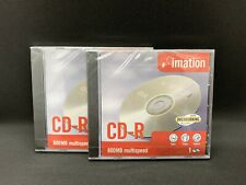 2 x Imation CD-R 800MB Multispeed Blank Disk For Data Video Games Music