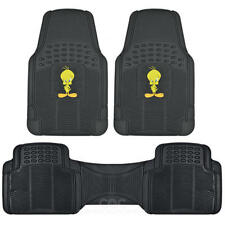 Tweety Bird Car Floor Mats 3 Piece Set W/ Rear Liner Trimmable All Weather