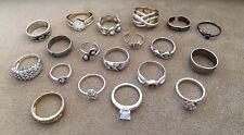 Vintage 925 STERLING SILVER Ring Lot of 19 Rings Hip Mod Boho Deco 50 Grams