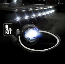 Recon 264227WHBK White LED Front Air Dam Light Kit, Smoked Lens/Black Bezel