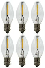 LED Night Light Bulbs (6 Pack), C7 Replacement Bulbs, 7watt Equivalent, 120v