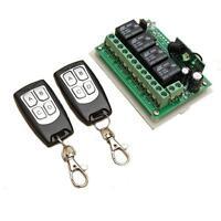 12V 4CH Channel 433MHZ Wireless RF Fernbedienung Switch 2Transmitter für Alarm