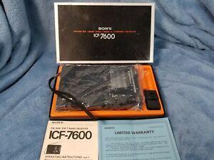 SONY ICF-7600 - AM/FM/SSB-CW - SHORTWAVE RECEIVER - NEAR MINT - ORIGINAL BOX!!!