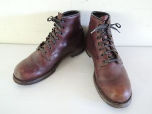 RED WING 9011 6-Inch BECKMAN ROUND Cherry Leather Work Boots Size 8 D