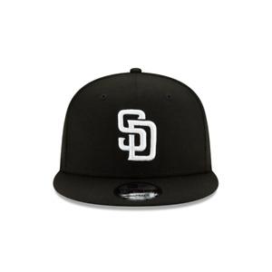 Men's New Era 9Fifty Black/White MLB San Diego Padres Basic Snapback (12351318)