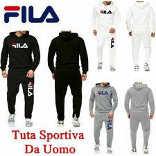 FILA Uomo Pantaloni Da Giacca Tuta Sportiva Fitness Felpa Top + pantaloni IT