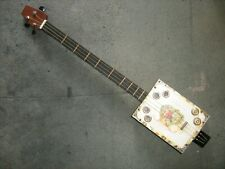 More details for used cigar box fitted with new parts to create cigar box guitar.