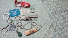9 PC LOT VINTAGE ADVERTISING KEY CHAINS NEWPORT CIGARETTES ZODIAC NAIL CLIPPERS