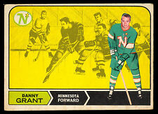 1968 69 OPC O PEE CHEE 52 DANNY GRANT VG-EX RC MINNESOTA NORTH STARS HOCKEY CARD