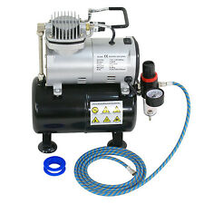 PROFESSIONAL AIR COMPRESSOR KIT WITH 3L Liter Air Tank - Paint Hobby Cake Tattoo