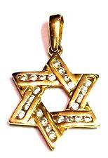 Judaica chaînes pendentif étoile de David Or 750/18k et 24 diamants