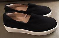 New STEVEN by Steve Madden Slip On Fashion Sneakers Black Sz 8.5 M