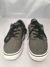 Unisex Shoes Vans Low Top Black Fringe Youth Child Boy Girl 6.5 6.5c