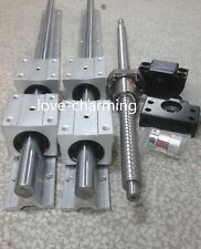 2 SBR16-1250mm linear rail +1 ballscrew  RM1605-1250mm+1 BK/BF12 end+couping kit