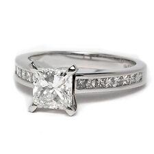 18k White Gold 0.70 Carat Princess Diamond Engagement Ring.