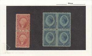1862/74 Mint Internal Revenues Proprietary Pair & Mint NG Blk/4 R152