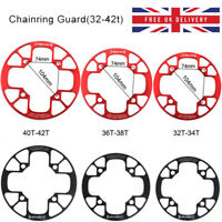 UK 32T-42T MTB Road Bike Chainset Chainring Protect Cover Bolts Black/Red