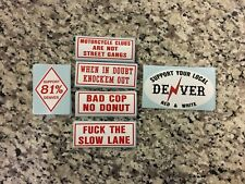 #8 - 6 STICKERS 3 inch DENVER 81 SUPPORT YOUR LOCAL HELLS ANGELS STICKER PACK