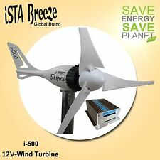 SET 12V/i-500Plus WINDGENERATOR + HYBRID LADEREGLER von iSTA-BREEZE®,WINDTURBINE