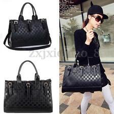 Women Leather Handbag Tote Cross Body Shoulder Bag Purse Satchel Shopper Zipper