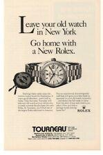 1989 Rolex Watch Advertisement Tourneau