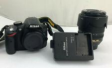 Nikon d3200 24.2 MP DSLR Fotocamera Nero con Nikkor AF-S DX VR 18-55mm #c22