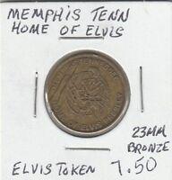 LAM(Z) Elvis Token - Memphis, TN - Home of Elvis Presley - 23 MM Bronze