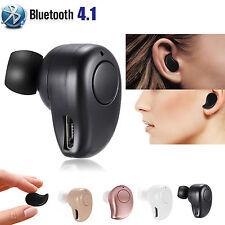 Mini Wireless Bluetooth 4.1 Stereo In-Ear Headset Earphone Earbud Earpiece