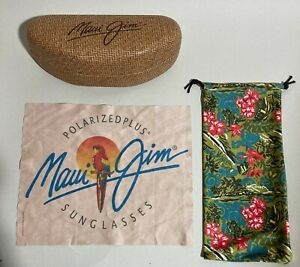 MAUI JIM RATAN STYLE SUNGLASSES CASE POUCH & CLOTH  (NO SHADES)