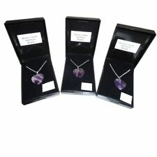 Love Hearts Amethyst Gemstone Costume Necklaces & Pendants