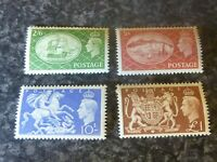 GB GVI POSTAGE STAMPS SG509-512 2/6-£1 UN-MOUNTED MINT