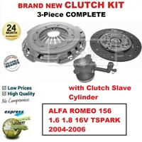 FOR ALFA ROMEO 156 1.6 1.8 16V TSPARK 2004-2006 BRAND NEW 3PC CLUTCH KIT and CSC