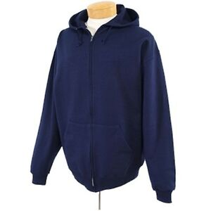 Youth Boy's Jerzees Zip Up Hoodies Gray, Navy Sizes S M L XL Brand New