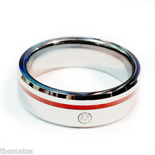 CZ STONE THIN RED LINE FIREFIGHTER FIRE RING SIZE 5 6 7 8 9 10 11 12 13 14 15