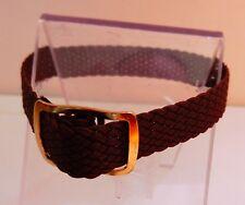 Bracelet Montre Watch Bands Nylon Tressé Style Nato 8 mm Marron Longueur 22 cm