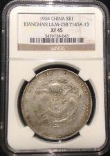 1904 CHINA Kiangnan $1 DOLLAR SILVER DRAGON COIN NGC L&M-258 Y145A.13 XF 45